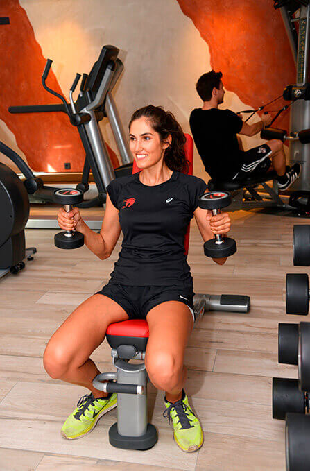 Fitnessbereich im Hotel Rotes Einhorn