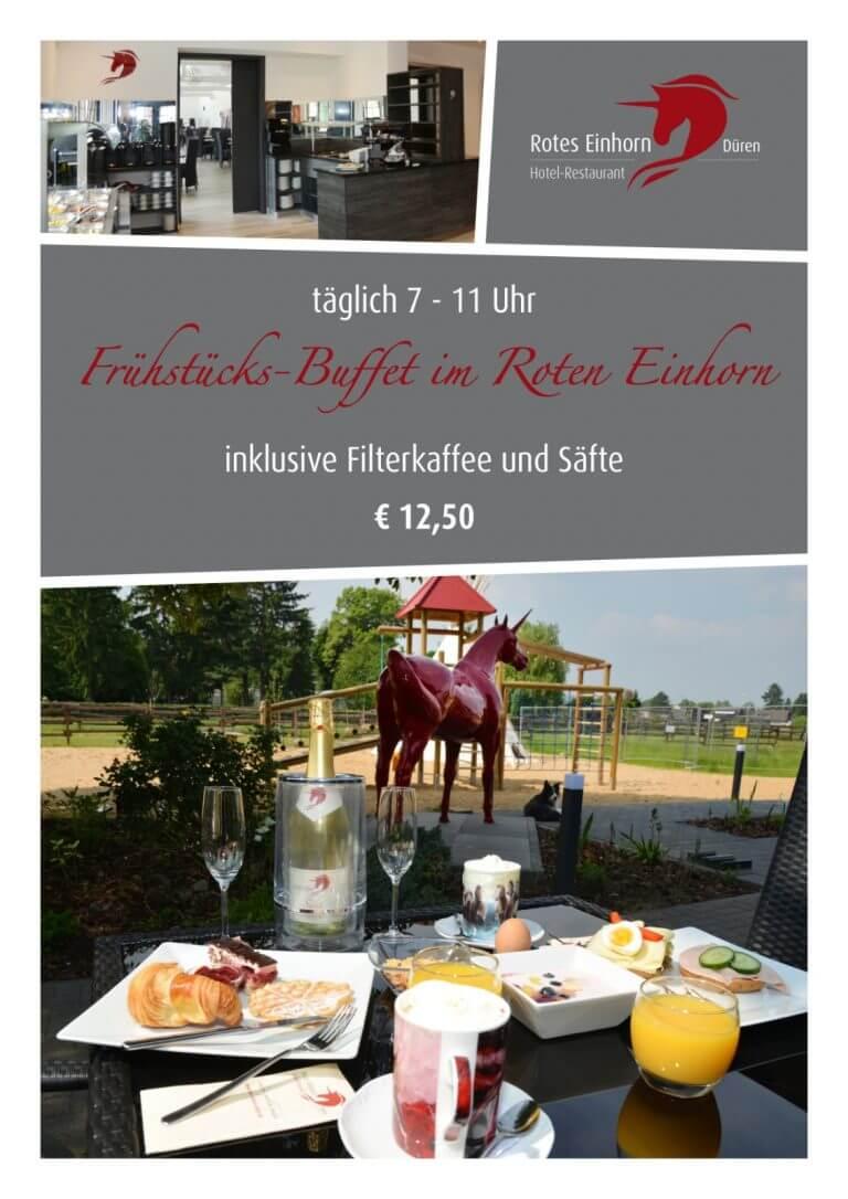 Frühstücksbuffet im Roten Einhorn